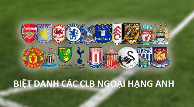 Biệt danh của các đội bóng ngoại hạng Anh